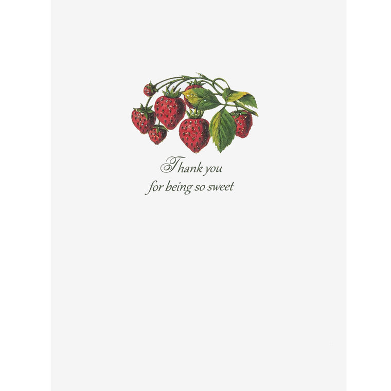 Strawberry Thank You Card. Lumia Designs
