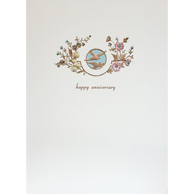 Greeting Card Doves  Anniversary - Lumia Designs