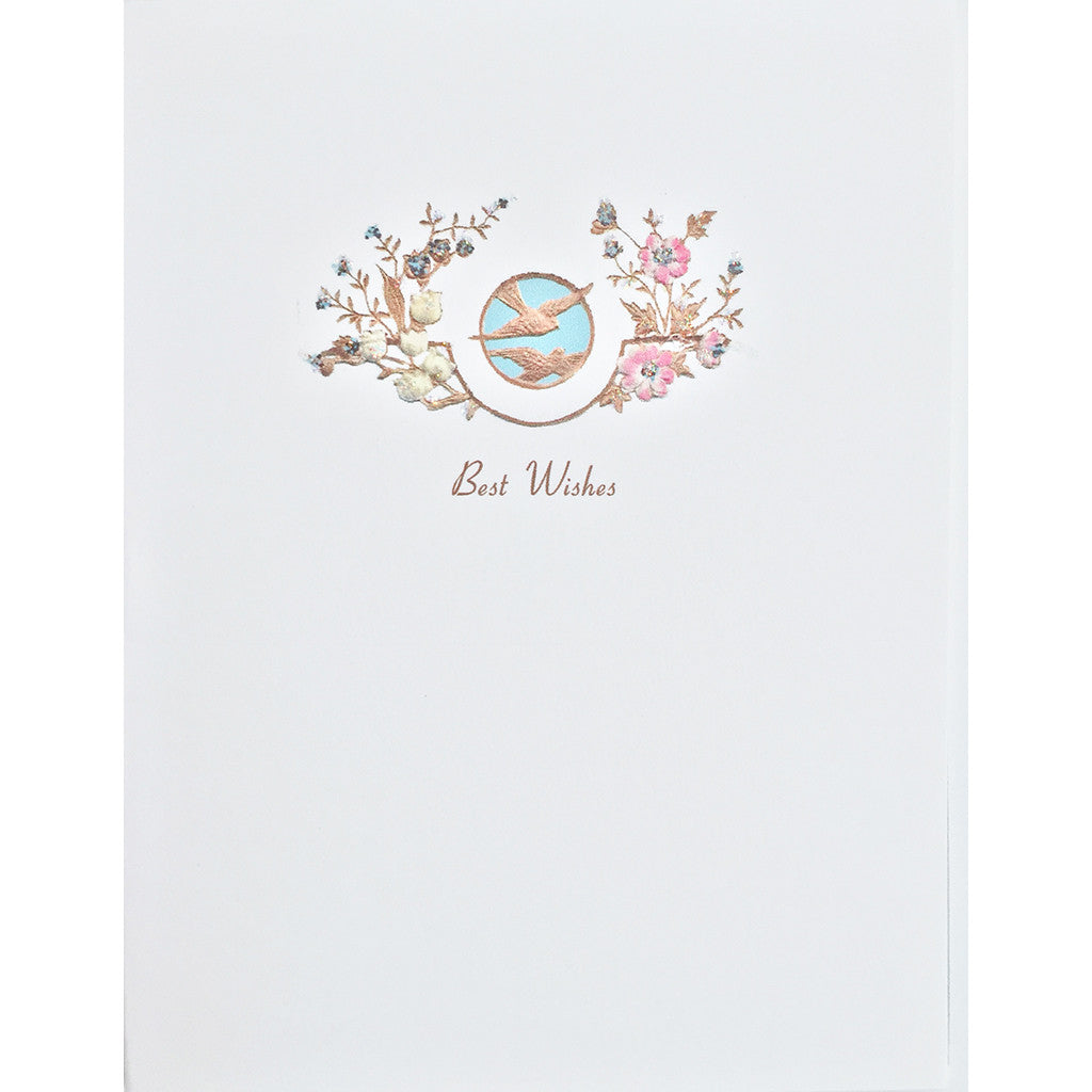 Greeting Card Doves Best Wishes - Lumia Designs