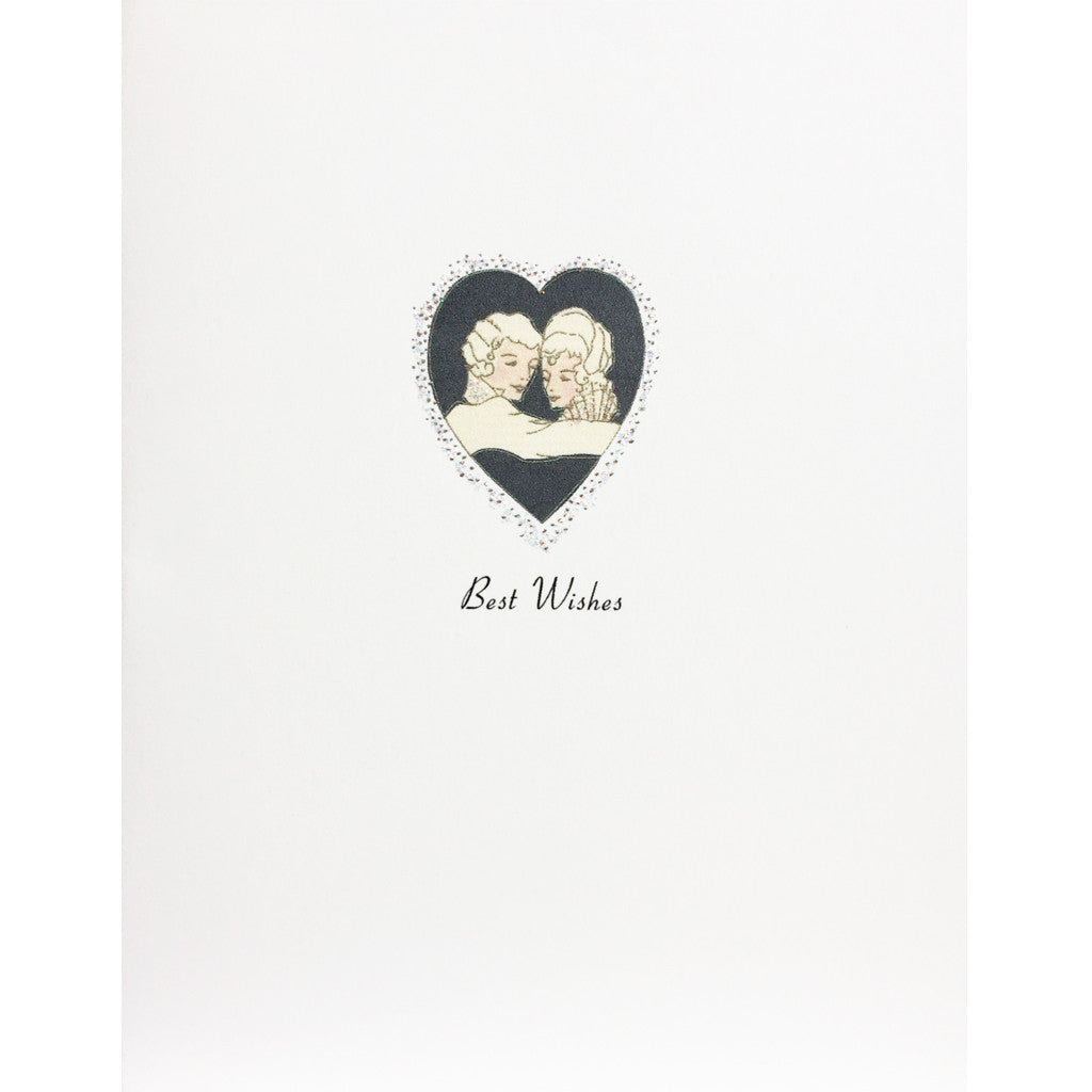 Couple in Heart Wedding Card
