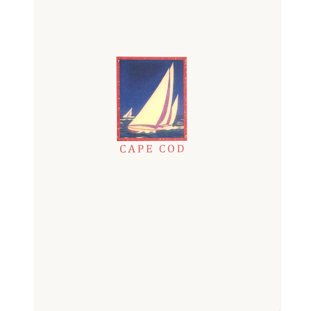 Cape Cod Sailboat Card