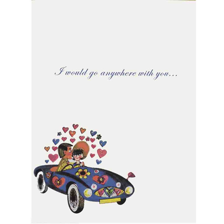 Car Hearts Love Card