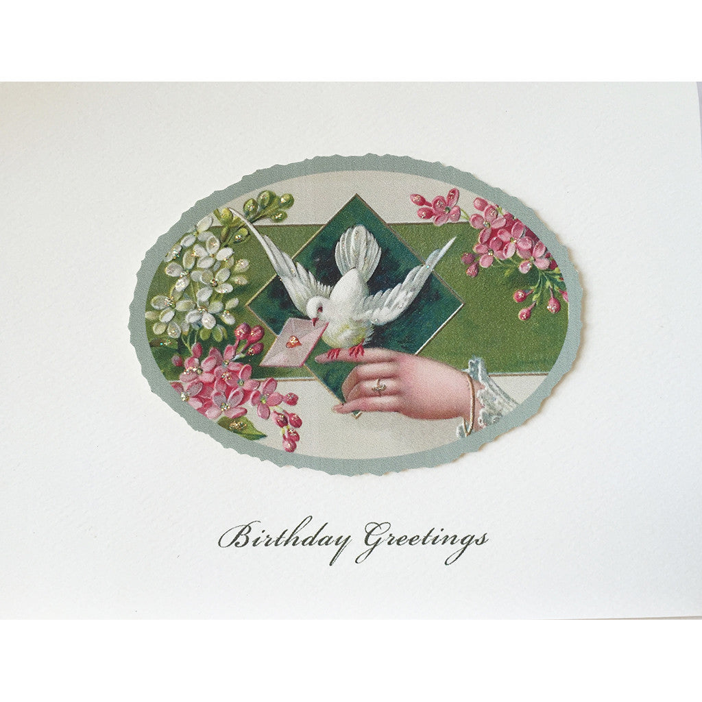 Greeting Card Dove Hand Birthday - Lumia Designs