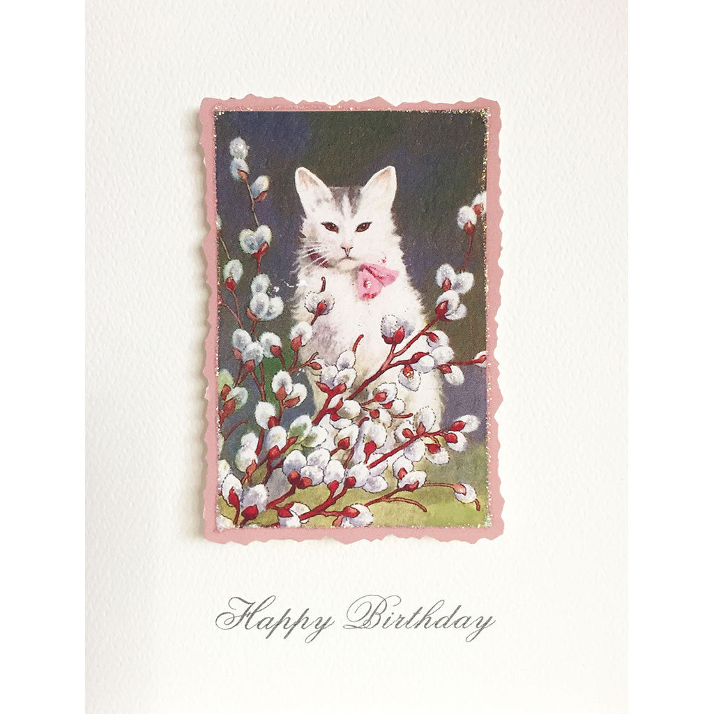 Greeting Card Kitty Willow Birthday - Lumia Designs