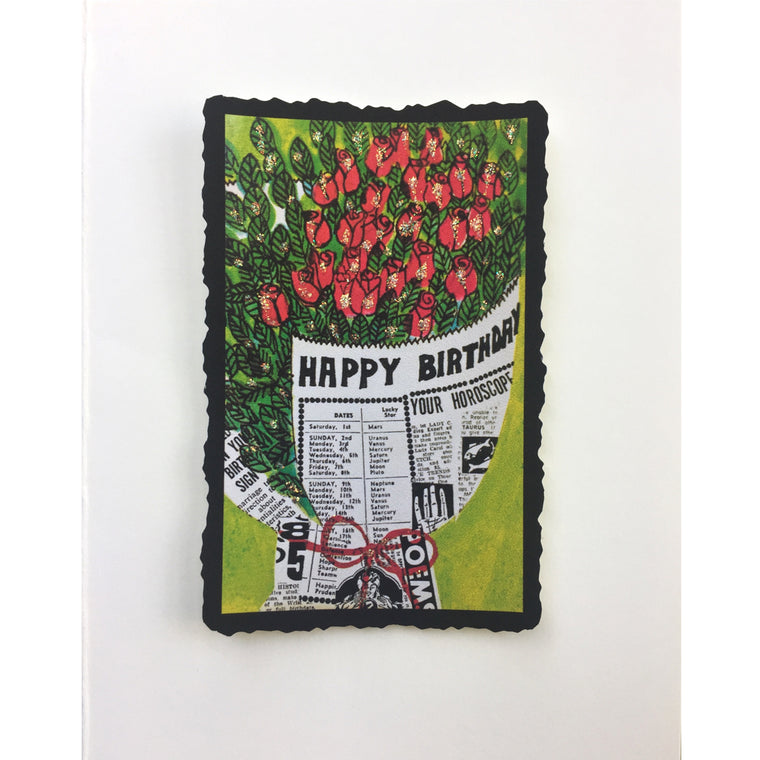 Roses Birthday News Birthday Card - Lumia Designs