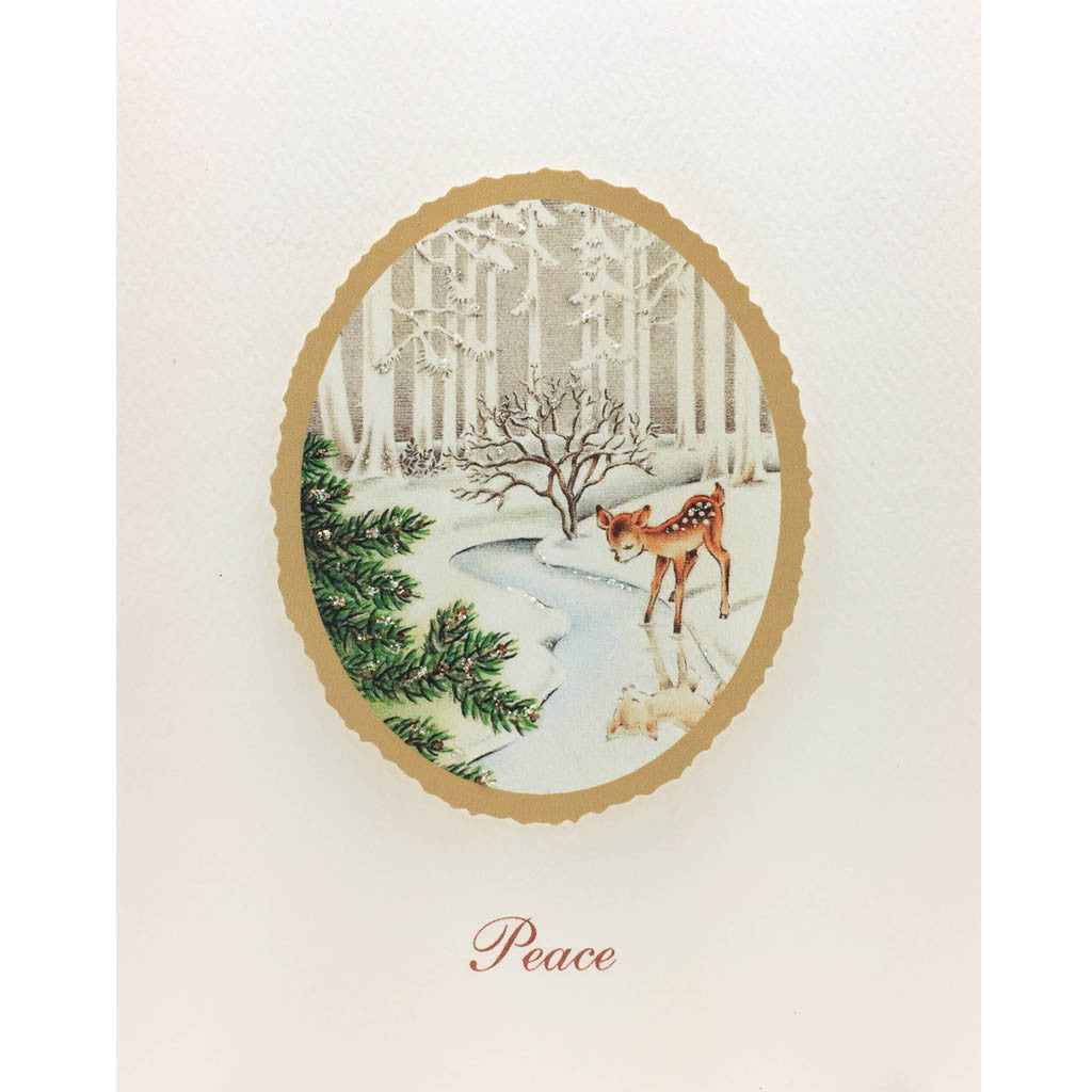 Deer Peace Holiday Card