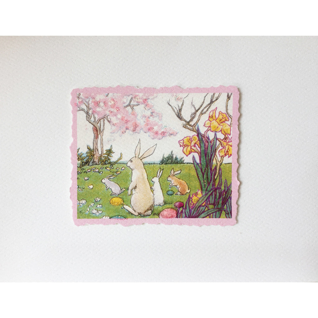 Greeting Card Bunny Scene EA-01 - Lumia Designs