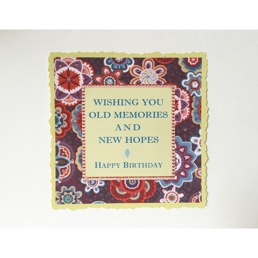 Greeting Card New Hopes Birthday - Lumia Designs