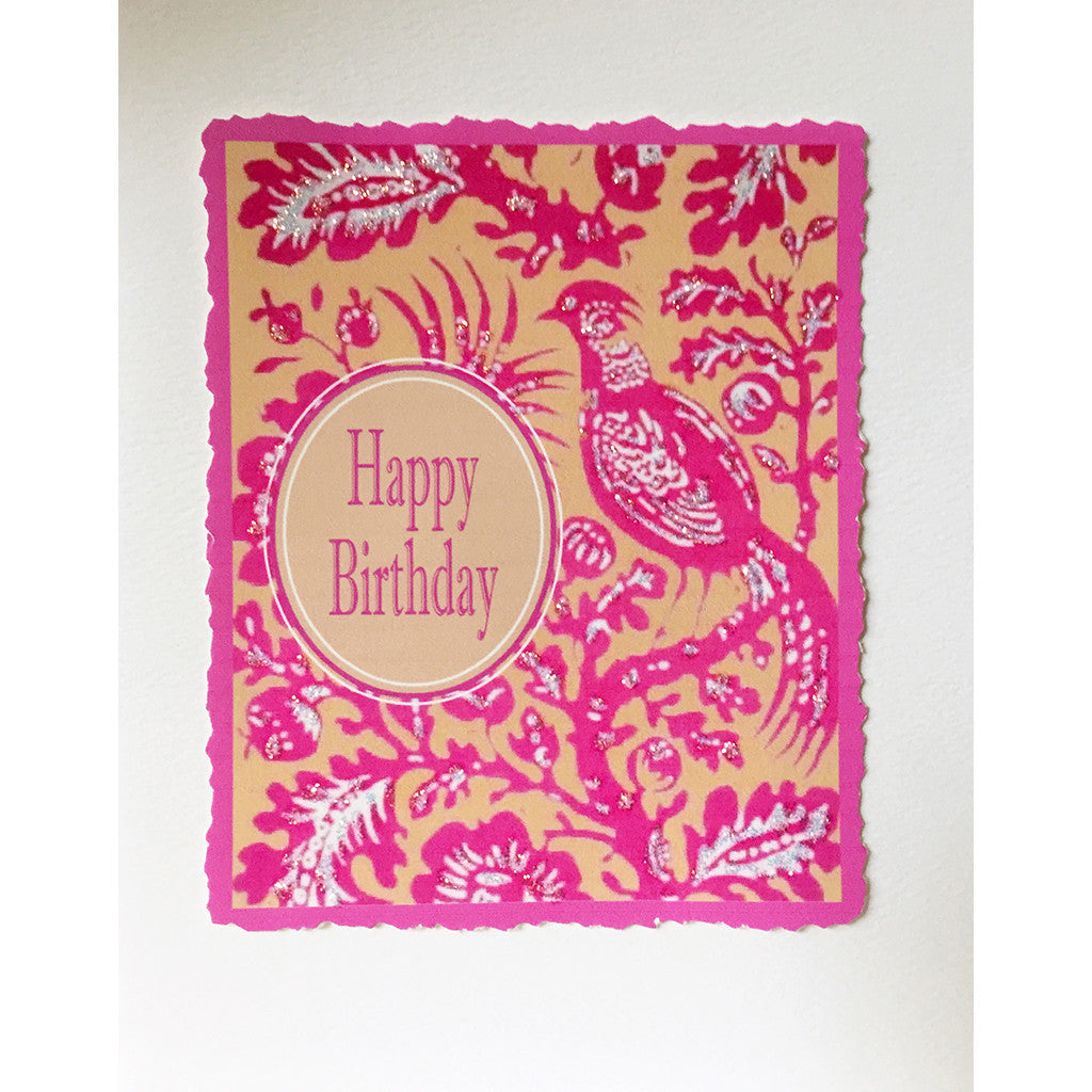 Pink Bird Birthday Card - Lumia Designs