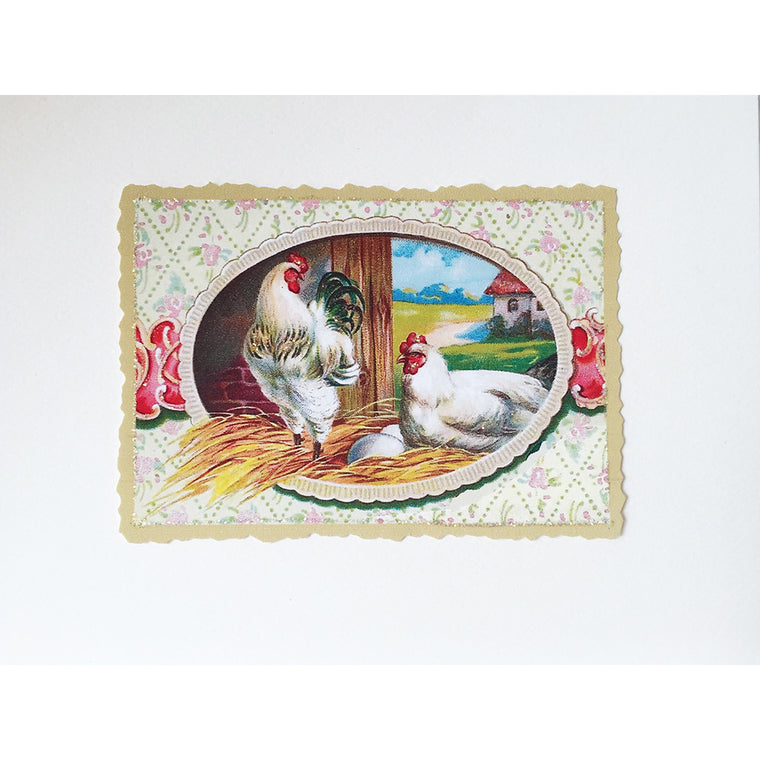 Greeting Card Rooster & Hen - Lumia Designs