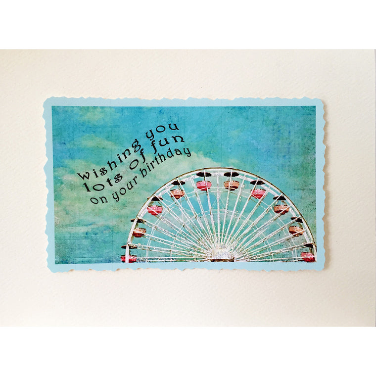Greeting Card Ferris Wheel Birthday - Lumia Designs