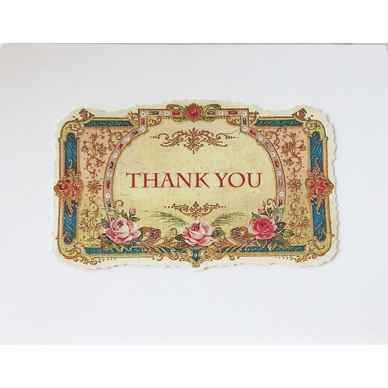 Greeting Card Vintage Thank You - Lumia Designs