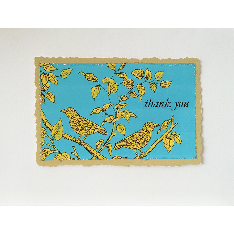 Greeting Card Bird Branch Thank You - Lumia Designs