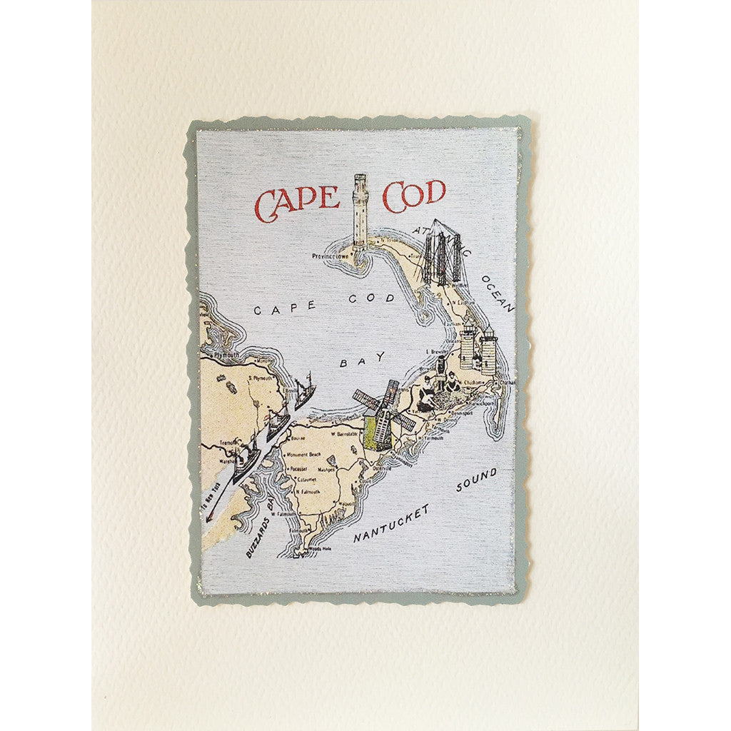Greeting Card Cape Cod Map - Lumia Designs