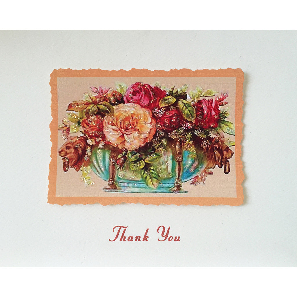 Greeting Card Floral Urn Thanks - Lumia Designs