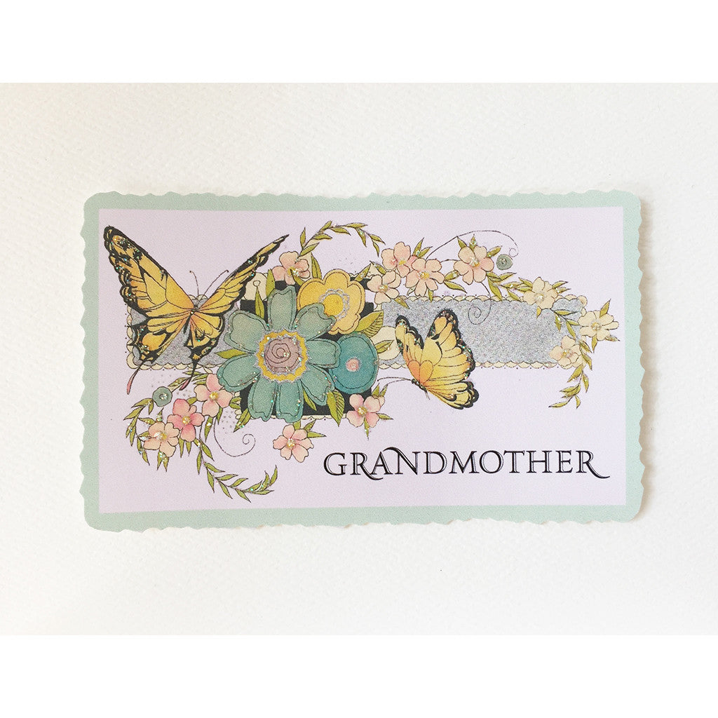 Greeting Card Grandmother Butterflies - Lumia Designs