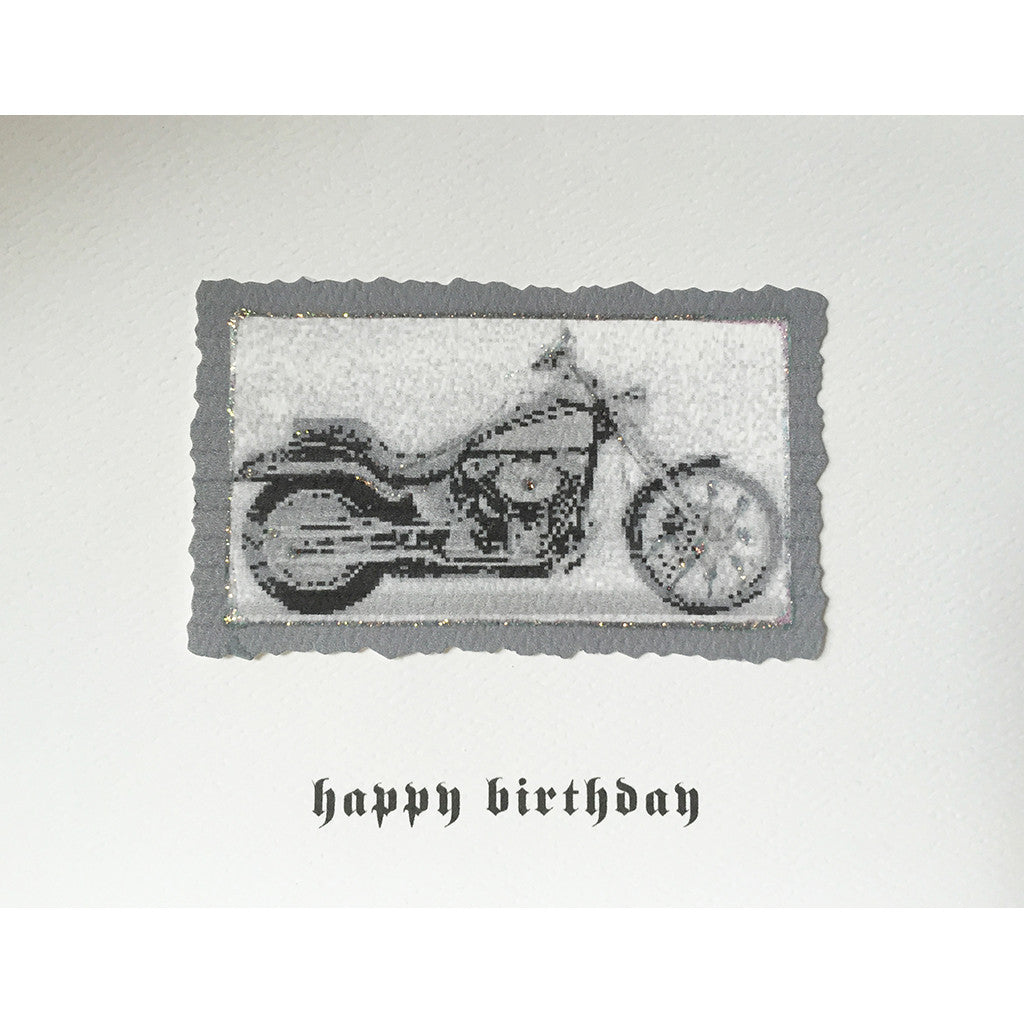 Greeting Card Motorcycle Birthday - Lumia Designs