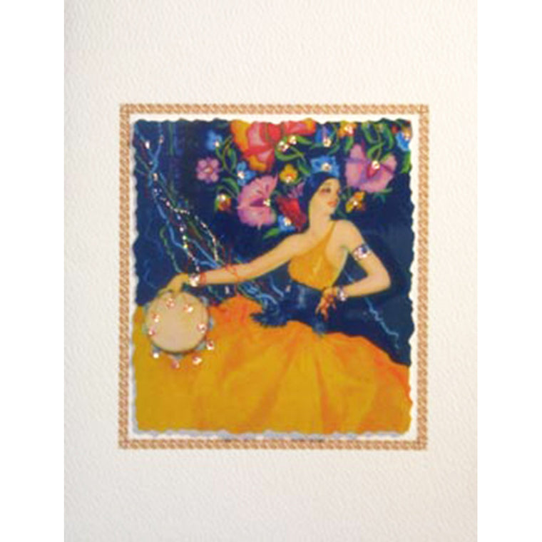 Greeting Card Spanish Dancer - Lumia Designs