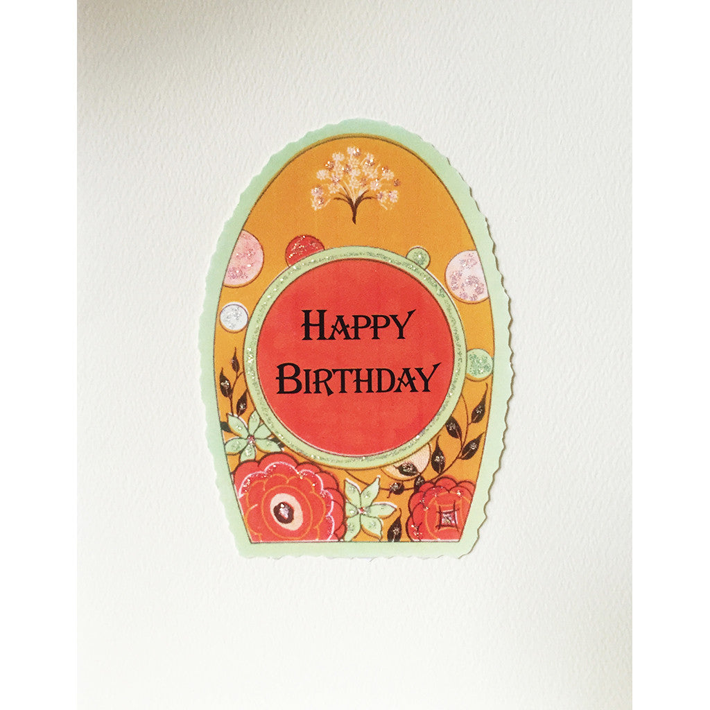 Greeting Card Deco Frame Birthday  ED-41 - Lumia Designs