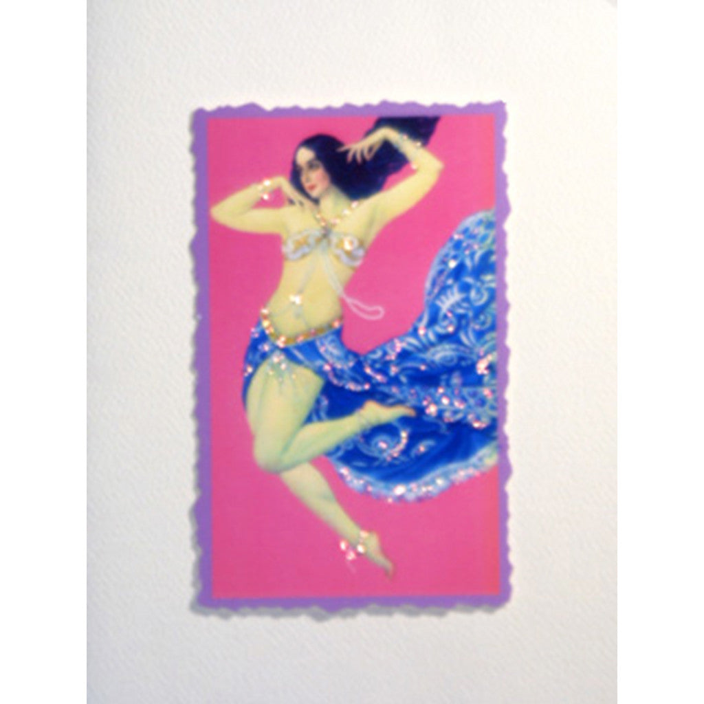 Greeting Card Belly Dancer - Lumia Designs