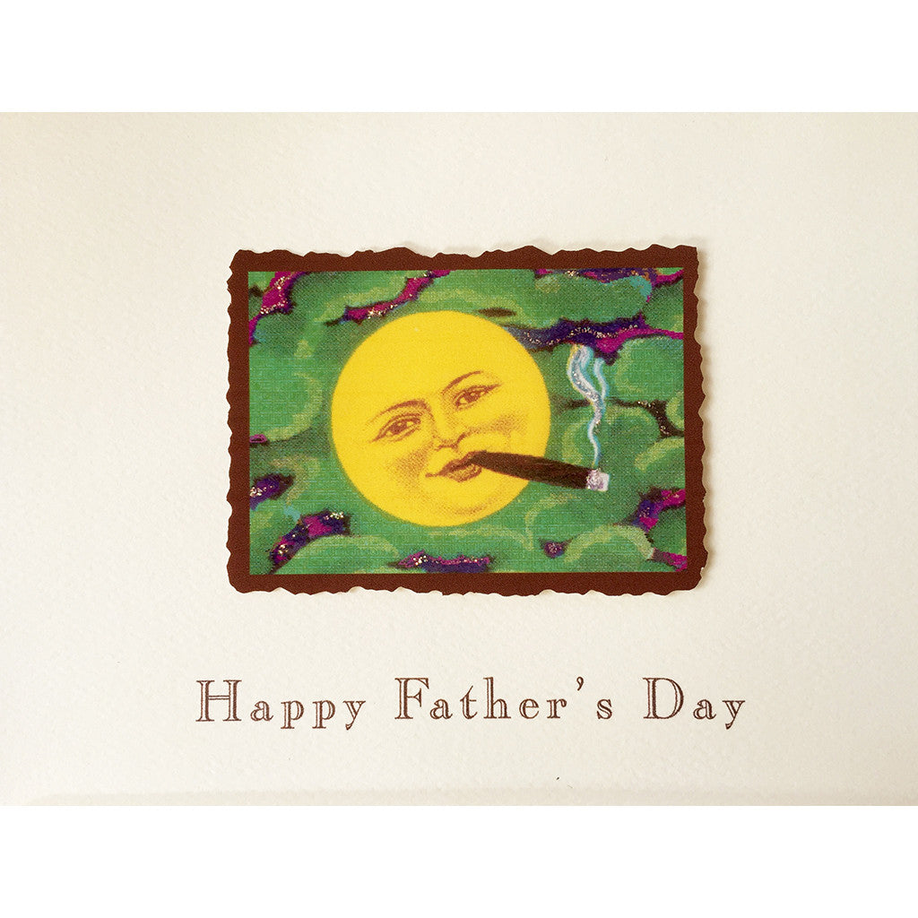Greeting Card Cigar Moon Father's Day - Lumia Designs