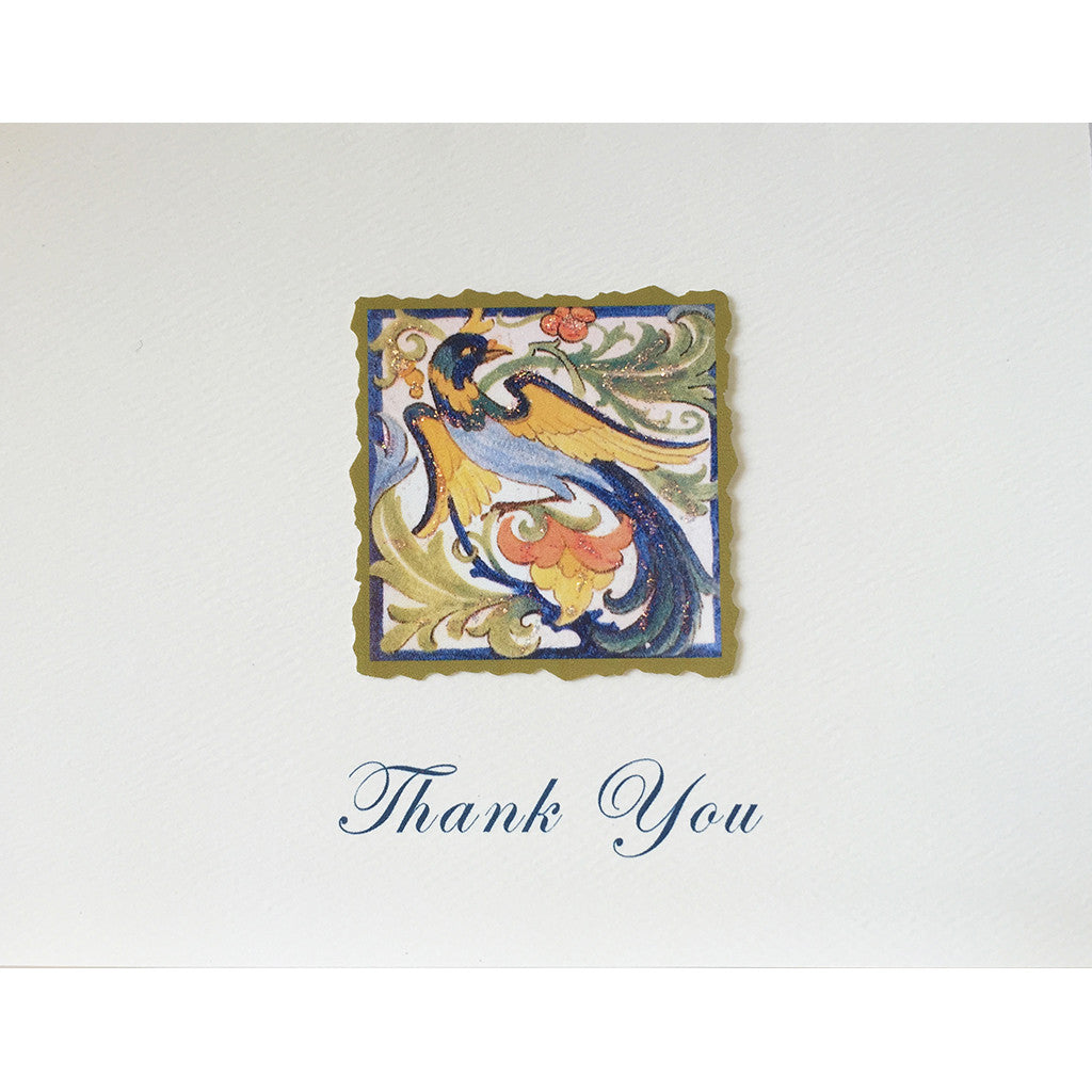 Greeting Card Exotic Bird Thanks - Lumia Designs