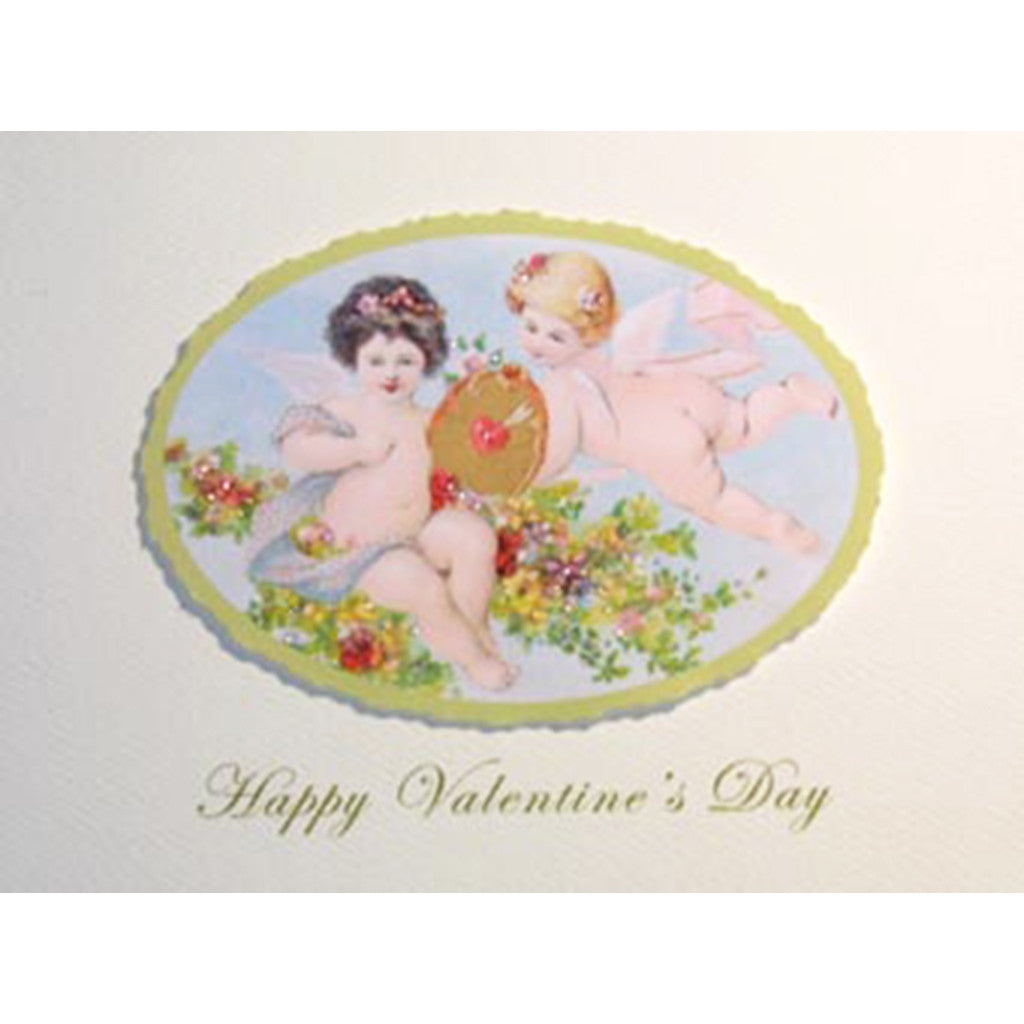 Greeting Card Floating Cherubs - Lumia Designs