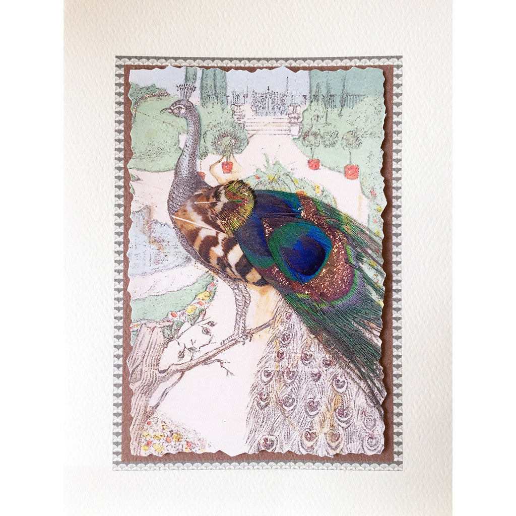 Greeting Card Peacock - Lumia Designs