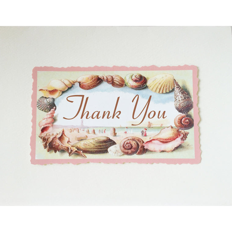 Greeting Card Seashells Thank You - Lumia Designs