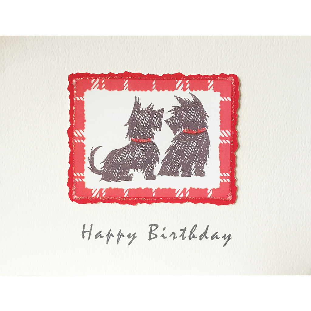 Greeting Card Scotties Birthday - Lumia Designs