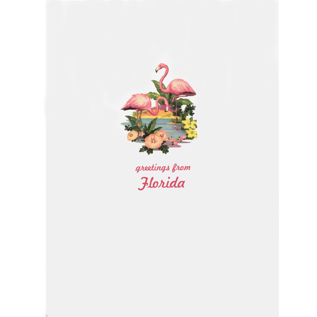 Florida Flamingos Card