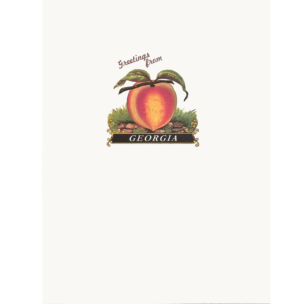 Georgia Peach Greeting card Lumia Designs