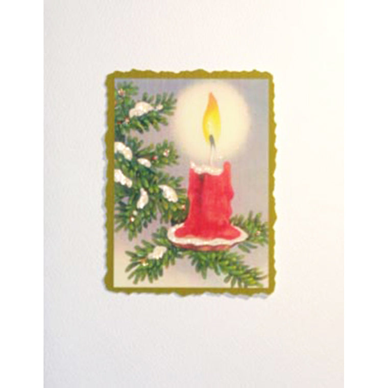 Greeting Card Candle on Branch - Lumia Designs