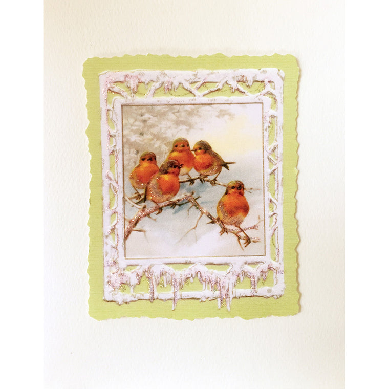 Greeting Card Frosty Birds - Lumia Designs