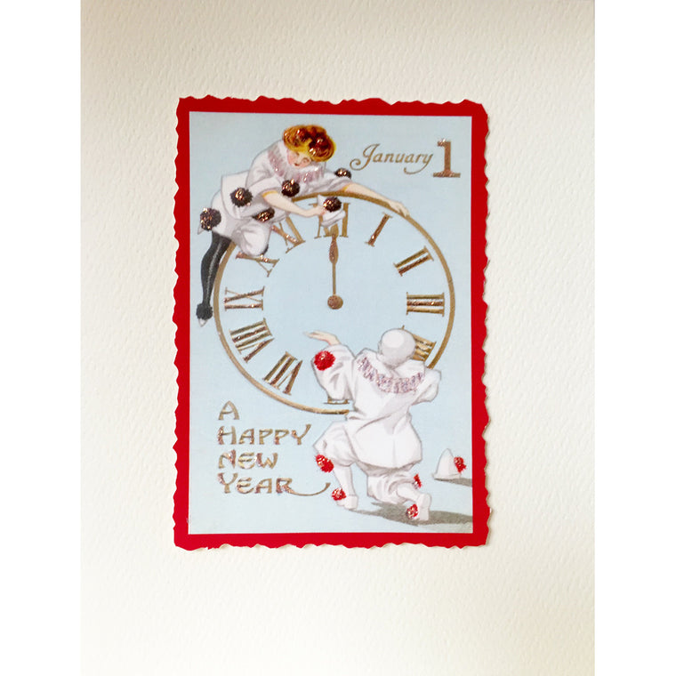 Greeting Card New Years Clock - Lumia Designs