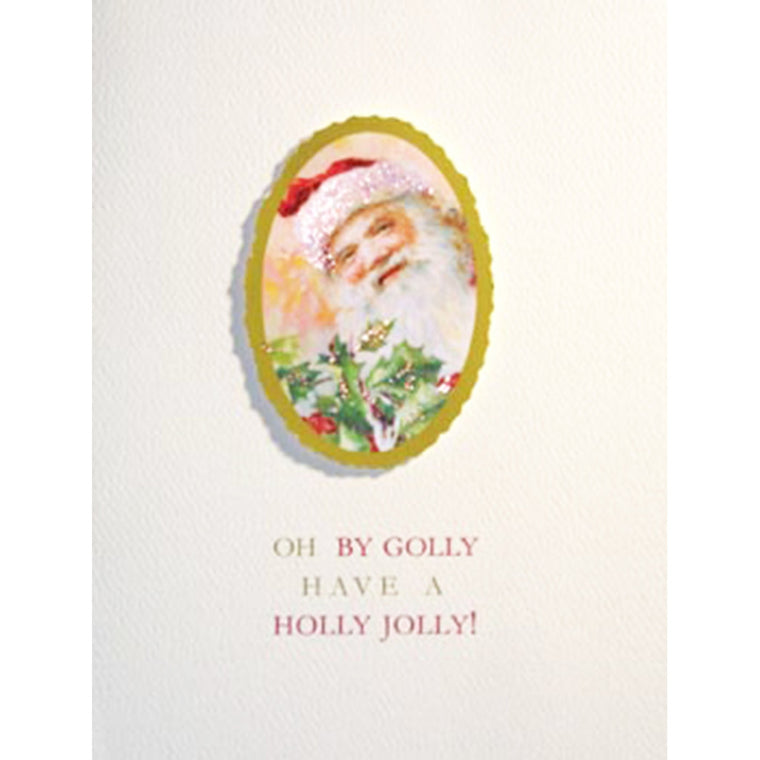 Greeting Card Holly Jolly - Lumia Designs