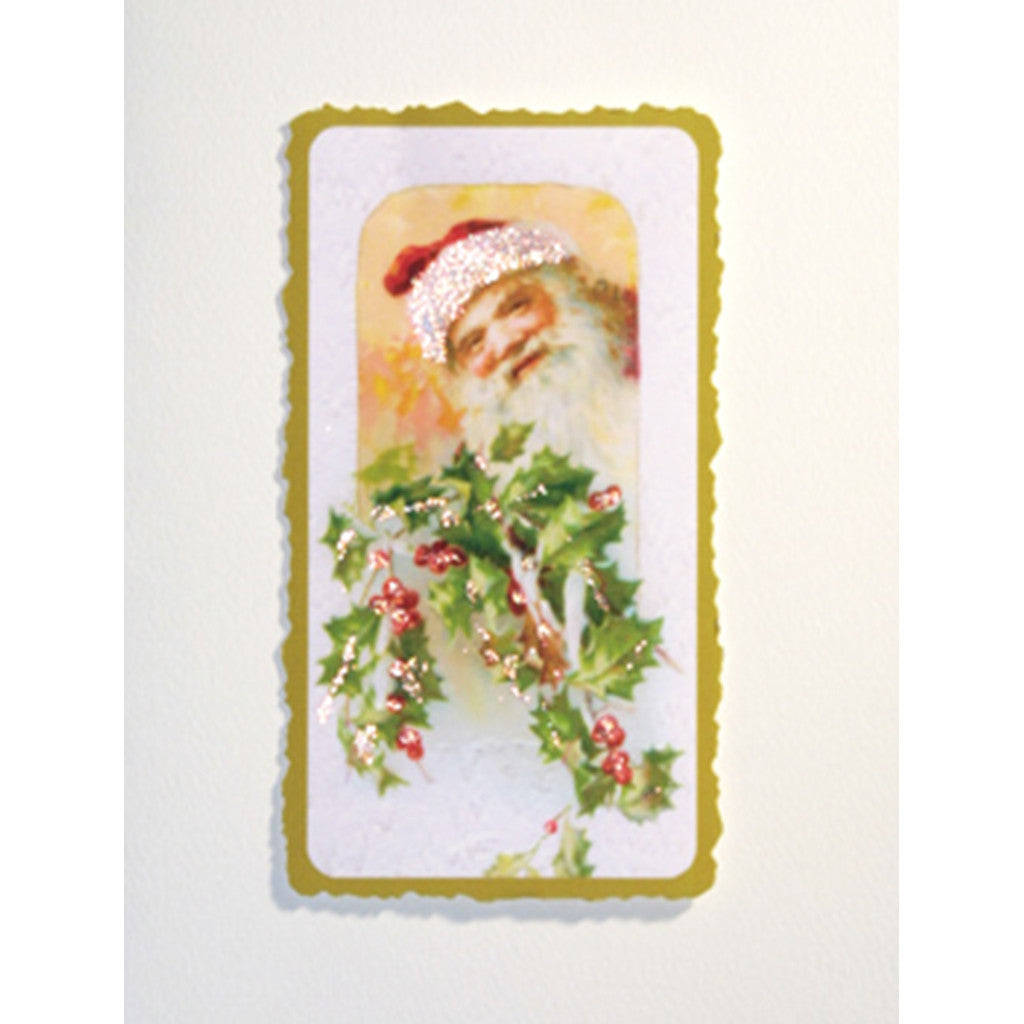 Greeting Card Santa Holly - Lumia Designs