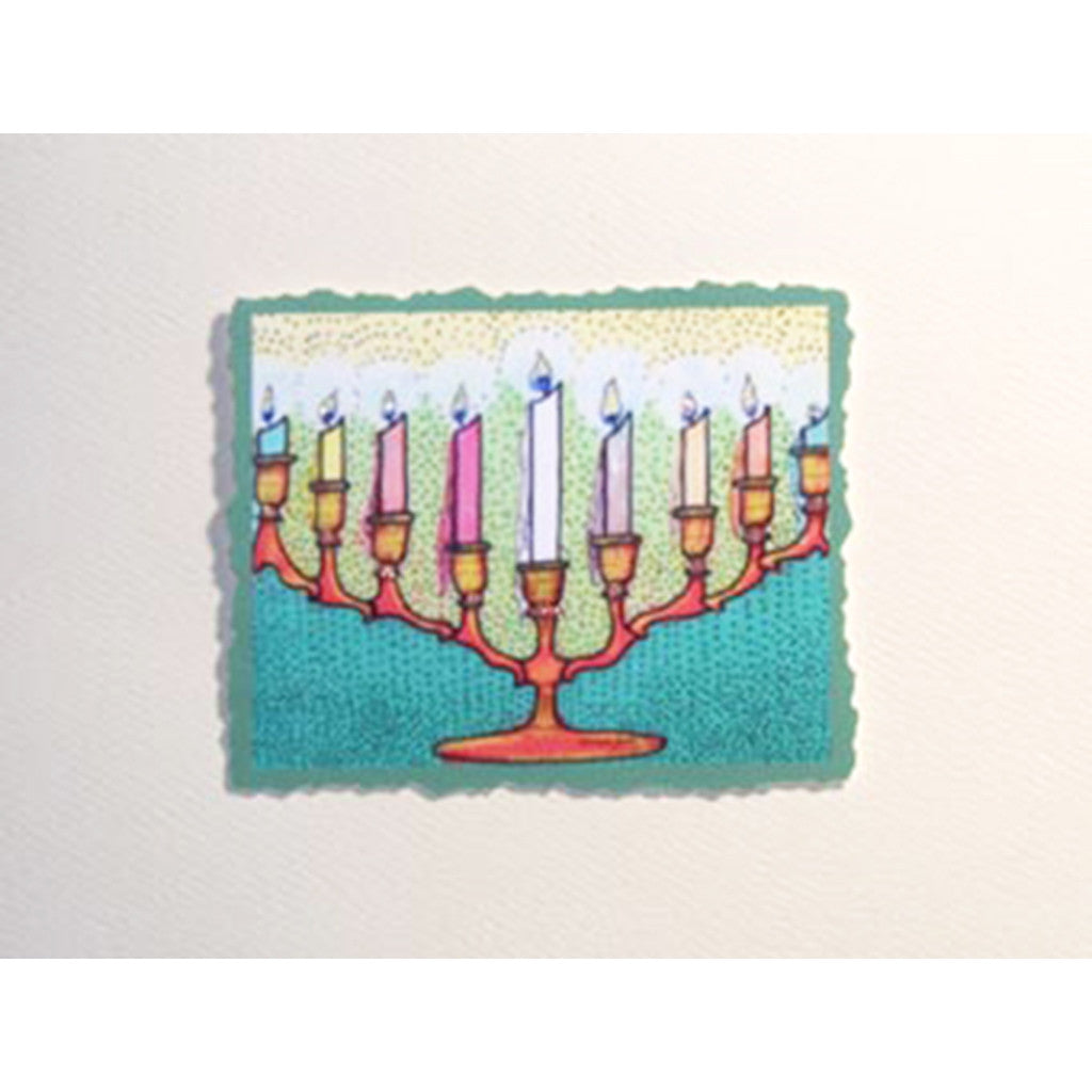Greeting Card Menorah - Lumia Designs