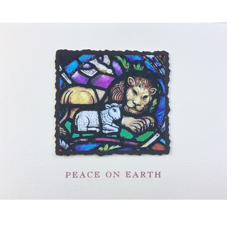 Lion & Lamb Peace on Earth Holiday Card
