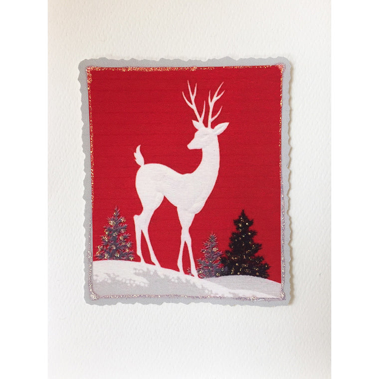 Greeting Card Red Deer HO-54 - Lumia Designs