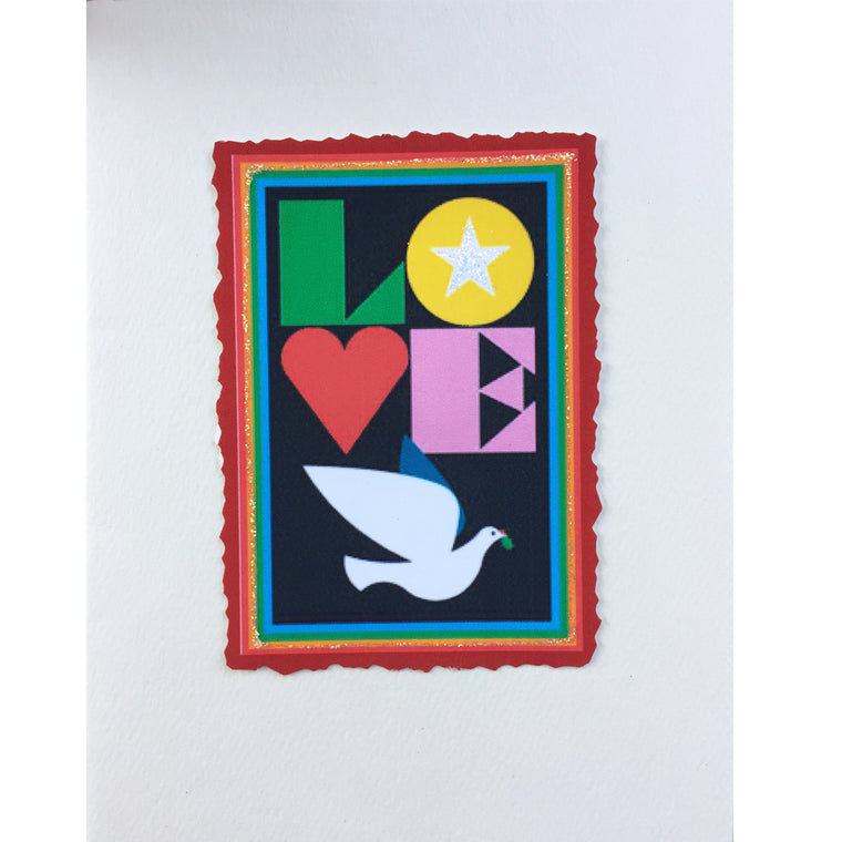 Love & Peace Greeting Card, Lumia Designs