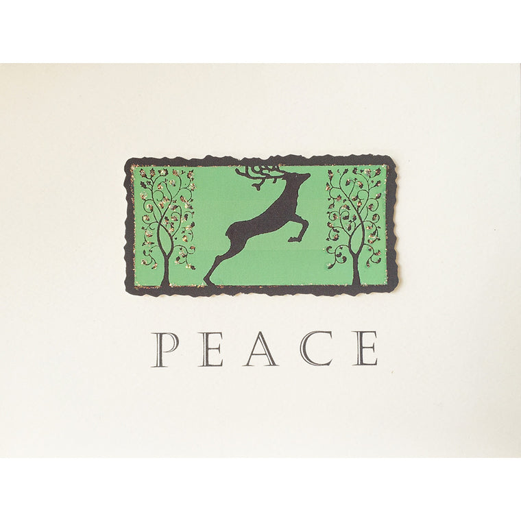 Greeting Card Peace Deer - Lumia Designs