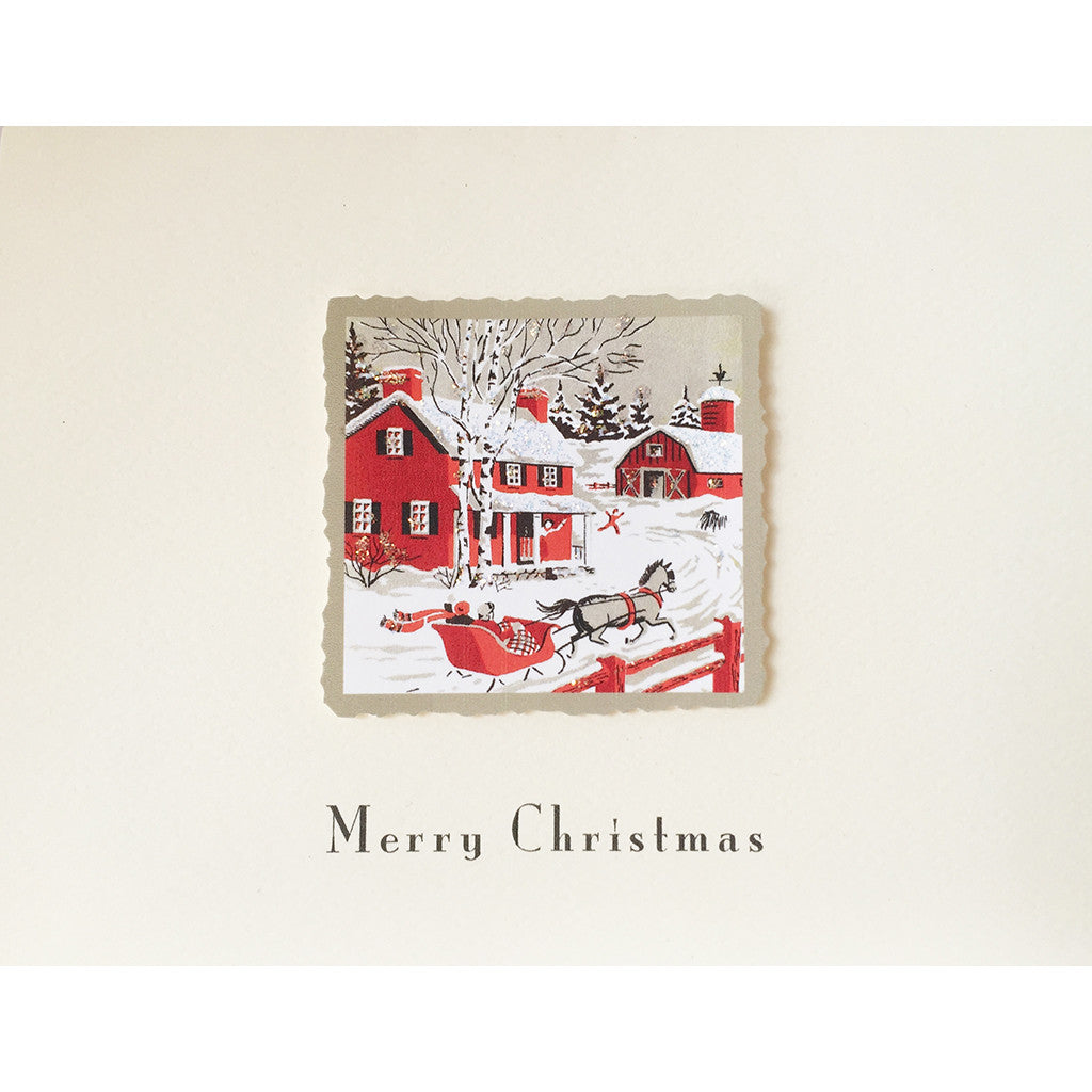 Greeting Card Red Coach - Lumia Designs