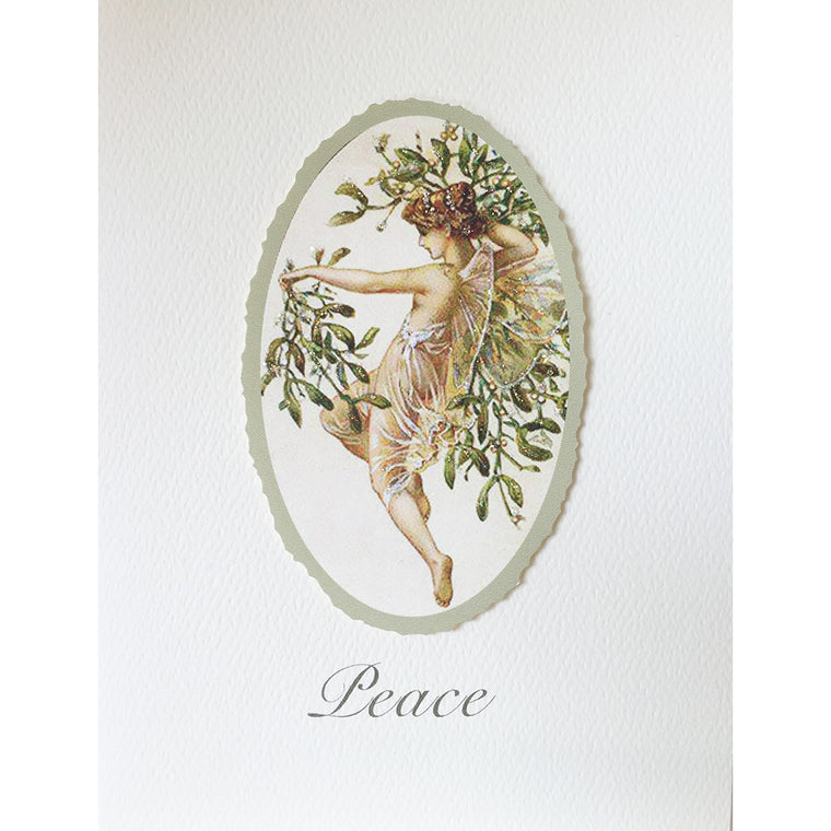 Greeting Card Angel Mistletoe - Lumia Designs