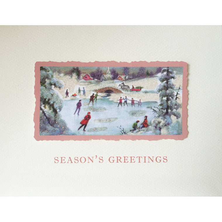 Greeting Card Skating Scene HO-75 - Lumia Designs