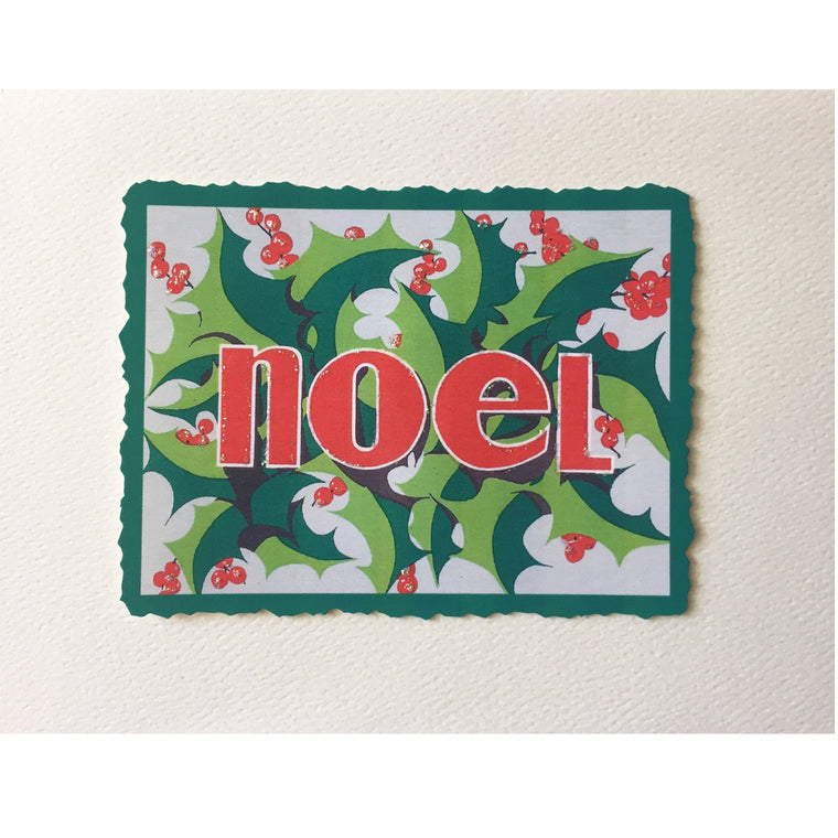 Noel Holly Christmas Card