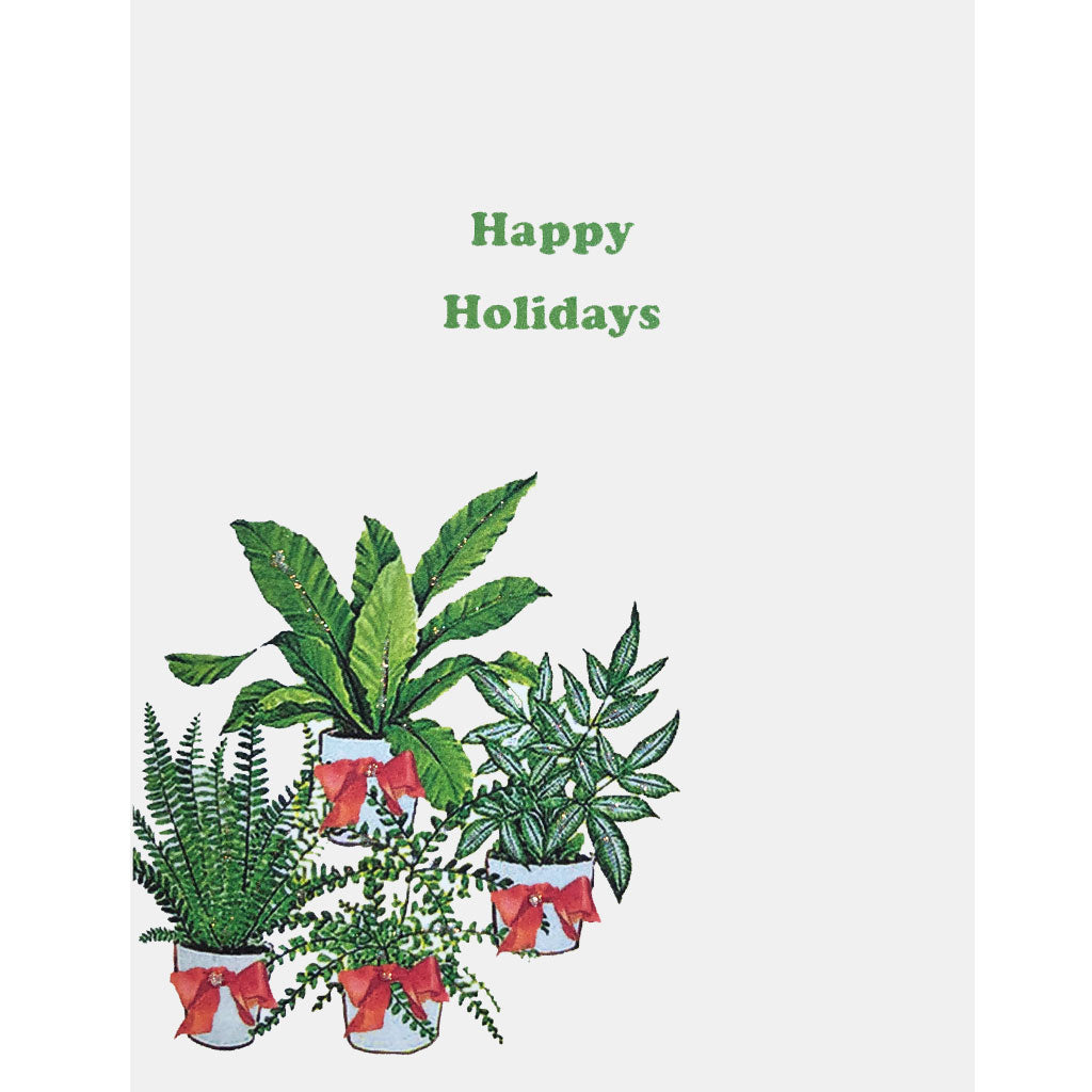 Houseplants Holiday Card