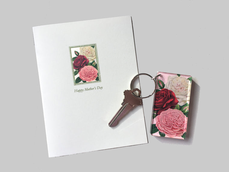 Roses Mother's Key-chain & Card Set