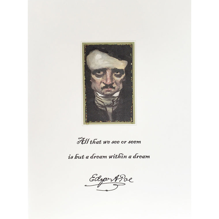 Greeting Card Edgar Allen Poe - Lumia Designs