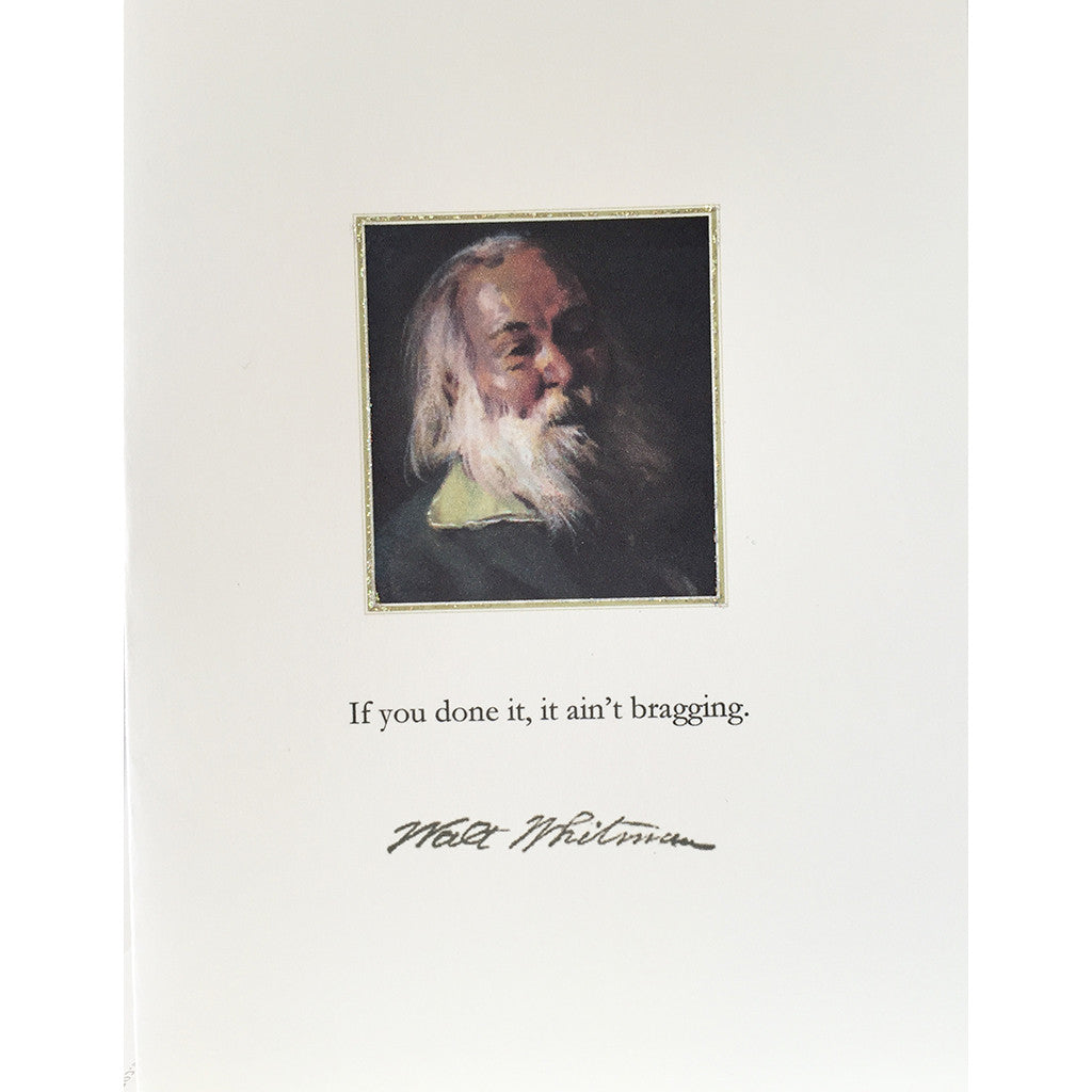 Greeting Card Walt Whitman - Lumia Designs